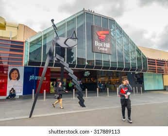 Melbourne, Australia - September 18, 2015: Box Hill Central shopping centre in the eastern suburb of Box Hill.