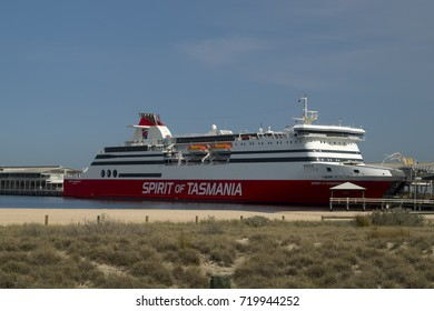 Melbourne, Australia - September 22, 2017: Spirit of Tasmania is a fast ferry owned by TT-Line Pty Ltd. it operates between Melbourne and Devonport Tasmania in Australia.