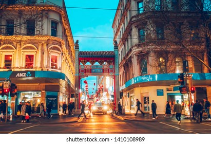 Melbourne, Australia - September 23, 2018. China town in Melbourne. It's the capital and most populous city in Victoria, and the second most populous city in Australia.
