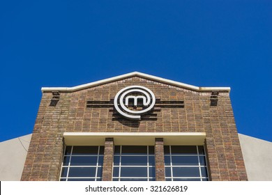 Melbourne, Australia - September 25, 2015: Close-up of MasterChef kitchen building in Melbourne during daytime. MasterChef is a competitive cooking game show in Australia.
