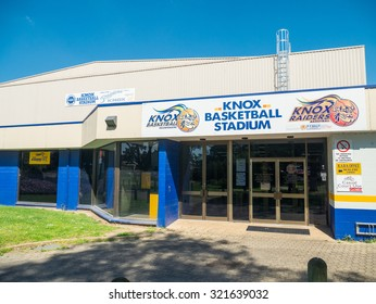 Melbourne, Australia - September 25, 2015: Knox basketball stadium in the eastern suburb of Boronia in the City of Knox council area.