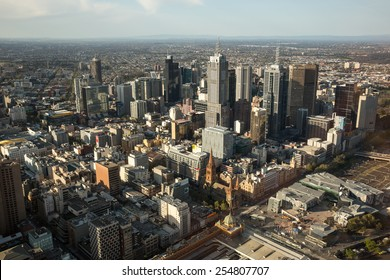 Melbourne, Australia - September 25: View of the Central Business District in Melbourne, Australia on September 25, 2014.