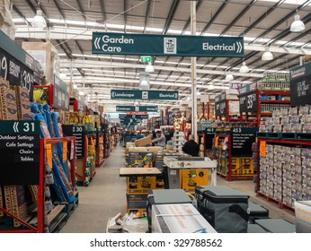 Melbourne, Australia - September 26, 2015: Bunnings operates 280 hardware stores in Australia and New Zealand, including this Bunnings Warehouse store in Nunawading. Bunnings is owned by Wesfarmers.