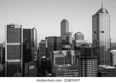 Melbourne, Australia - September 26: View of the Central Business District in Melbourne, Australia on September 26, 2014.