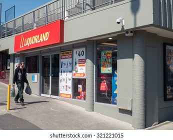 Melbourne, Australia - September 27, 2015: Liquorland is an Australian liquor chain owned by Wesfarmers. This store is in Boronia in outer eastern Melbourne.