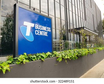 Melbourne, Australia - September 28, 2015: Telstra Corporation Limited is Australia's largest telecommunications and media company. This is the Telstra Business Centre in Box Hill.
