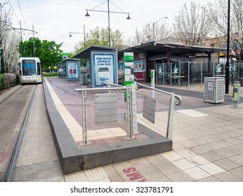 Melbourne, Australia - September 28, 2015: Box Hill terminus of the number 109 tram route running between Port Melbourne and Box Hill.