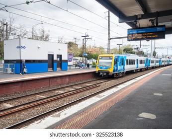 Melbourne, Australia - September 30, 2015: Surrey Hills Station is part of Melbourne's Metro suburban train network. Surrey Hills is an eastern suburb.