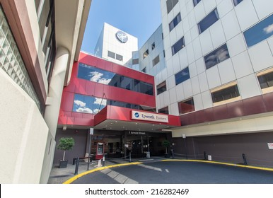 MELBOURNE, AUSTRALIA - September 7, 2014: Epworth Eastern is a private hospital located in Box Hill with 223 beds.