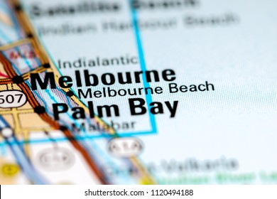 Map Of Melbourne Beach Florida.Jensen Beach Florida Usa On Map Stock Photo Edit Now 1120494146
