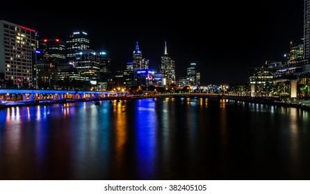 Melbourne Central Business district nightlife, Melbourne, Australia