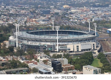 Melbourne cityscape and Melbourne Cricket Ground Australia