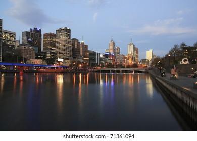 Melbourne Cityscape over Yarra River