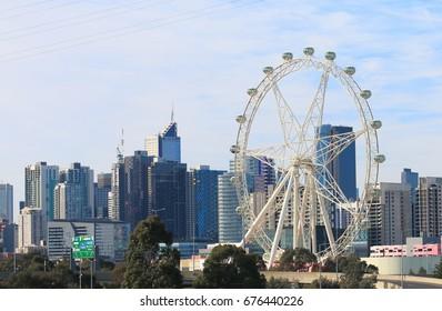 Melbourne downtown cityscape Australia