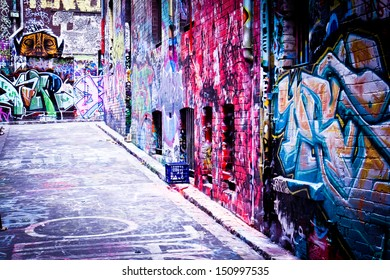 MELBOURNE - FEB 9: Street art by unidentified artist. Melbourne's graffiti management plan recognises the importance of street art in a vibrant urban culture - February 9, 2008 in Melbourne, Australia