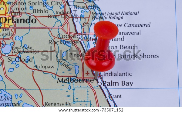 Map Of Florida Melbourne.Melbourne Florida Brevard County United States Stock Photo Edit Now