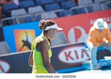 MELBOURNE- JANUARY 20: Tennis player Venus Williams at the Australian Open on January 20, 2009 in Melbourne Australia.