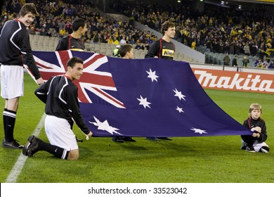 MELBOURNE - JUNE 17: Australian Socceroos-2 defeat Japan-1 in the 2010 World Cup Qualifying at the MCG (Melbourne Cricket Ground) June 17, 2009 in Melbourne, Australia.