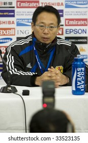 MELBOURNE - JUNE 17: Japanese Coach Oki Takeshi. Australian Socceroos-2 defeat Japan-1 in the 2010 World Cup Qualifying at the MCG (Melbourne Cricket Ground) June 17, 2009 in Melbourne, Australia.