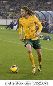 MELBOURNE - JUNE 17: Josh Kennedy, Australian Socceroos-2 defeat Japan-1 in the 2010 World Cup Qualifying at the MCG (Melbourne Cricket Ground) June 17, 2009 in Melbourne, Australia.