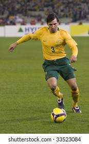 MELBOURNE - JUNE 17: Shane Stefanutto, Australian Socceroos-2 defeat Japan-1 in the 2010 World Cup Qualifying at the MCG (Melbourne Cricket Ground) June 17, 2009 in Melbourne, Australia.