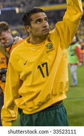 MELBOURNE - JUNE 17: Tim Cahill. Australian Socceroos-2 defeat Japan-1 in the 2010 World Cup Qualifying at the MCG (Melbourne Cricket Ground) June 17, 2009 in Melbourne, Australia.