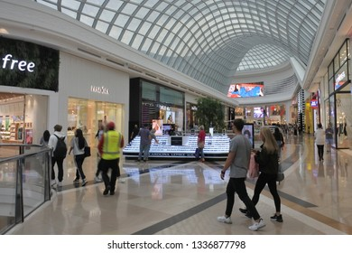 MELBOURNE - MAR 08 2019:Shoppers at Highpoint Shopping Centre  in Maribyrnong Melbourne Victoria Australia.It is the fourth largest shopping centre in Australia.