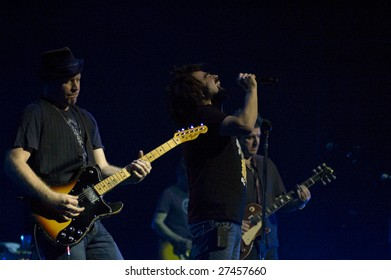 MELBOURNE- MAR 27: The Counting Crows perform live in concert at the Palais Theatre in Melbourne on March 27, 2009.