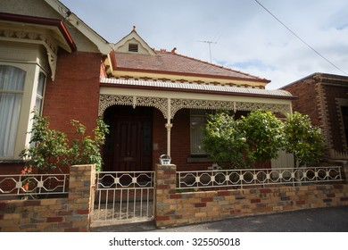 MELBOURNE - MARCH 19 2015: Victorian house.