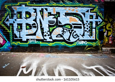 MELBOURNE - OCT 25: Street art by unidentified artist. Melbourne's graffiti management plan recognises the importance of street art in a vibrant urban culture - Oct 25, 2013 in Melbourne, Australia