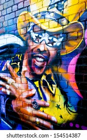 MELBOURNE - SEP 11: Street art by unidentified artist. Melbourne's graffiti management plan recognises the importance of street art in a vibrant urban culture - September, 2013 in Melbourne, Australia