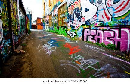 MELBOURNE - SEPT 11: Street art by unidentified artist. Melbourne's graffiti management plan recognizes the importance of street art in a vibrant urban culture - September 11, 2013 in Melbourne, Australia