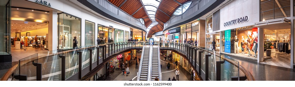 Melbourne, VIC/Australia-August 19th 2018: interior of Highpoint Shopping Centre. Located in the western suburbs of Melbourne, it is the fourth largest shopping centre in Australia.