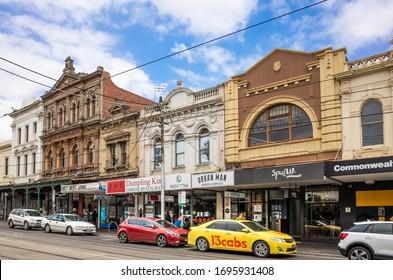 Melbourne, VIC/Australia-Jan 11th 2020:  some local shops along Swan street in Richmond.