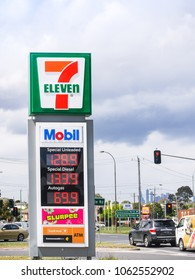 Melbourne, VIC/Australia-Nov 7th 2017: Signage outside of a 7-11 petrol filling station.