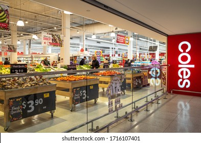 Melbourne, VIC/Australia-Oct 09th 2019: the fresh food area in a Coles supermarket. Coles is an Australian supermarket, retail and consumer services chain.