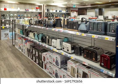 Melbourne, VIC/Australia-Oct 2019: a variety of small kitchen appliances on the shelves in a store.