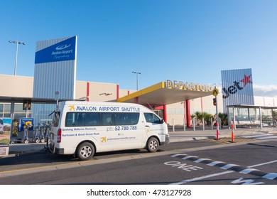 Melbourne, Victoria, Australia - August 4, 2016 : Departure terminal of Melbourne (avalon) Airport, Melbourne, Australia on Aust 4, 2016. A small airport serving the airline JetStar.