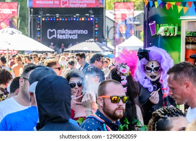 Melbourne, Victoria, Australia, January 20, 2019: The many sights of the Midsumma Festival held at Alexandra Gardens in the city of Melbourne