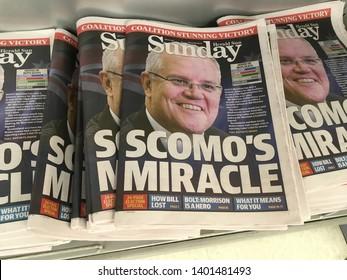 Melbourne, Victoria - May 19th 2019: Australia's Prime Minister Scott Morison Declares Election Victory