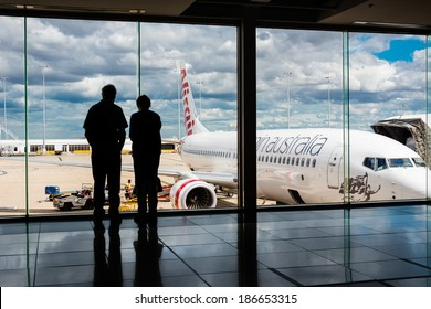 MELBOURNE, VICTORIA/AUSTRALIA, MARCH 17TH: Image of Virgin Australia passenger airliner at Melbourne Airport on 17th March, 2014 in Melbourne