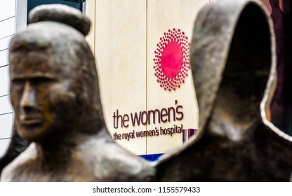 MELBOURNE, VICTORIA/AUSTRALIA, MAY 5TH.  The sign on front of The Royal Womens Hospital in Melbourne, Australia 2018