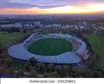Melbourne/Australia - April 2020: Sunset shot of IKON park