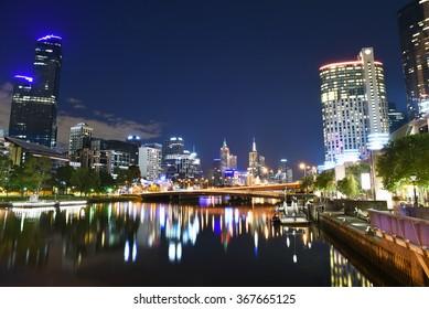 Melbourne's popular Southbank precinct.