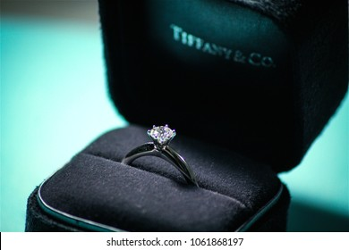 Melbourne,VIC/Australia-11/12/2016: Tiffany engagement ring