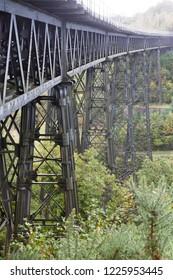 Meldon Viaduct near Okehampton in Devon, UK