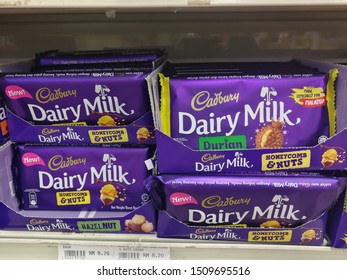 MELIMEWA SUPERSTORE kudat sabah, Malaysia- 20 September 2019 : A Chocolate Cadbury brand stacked on shelves at MELIMEWA SUPERSTORES is ready for sale to the customers.