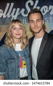 Melissa Benoist, Chris Wood attend 15th Annual HollyShorts Film Festival Opening Night at TCL Chinese 6 Theatres, Beverly Hills, CA on August 8 2019
