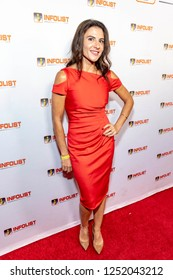 Melissa Mayo attends INFOList.com Red Carpet Re-Launch Party & Holiday Extravaganza! at SKYBAR at the Mondrian Hotel, Los Angeles, California on December 5th, 2018