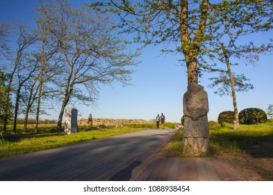 "Melitopol, Ukraine -May 01, 2018: National-historical and archaeological reserve ""Stone Grave or Rocky Mound Kamena Mohyla"" near Melitopol, Ukraine"